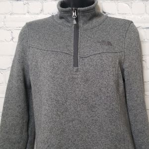 The North Face sherpa lined 1/4 zip